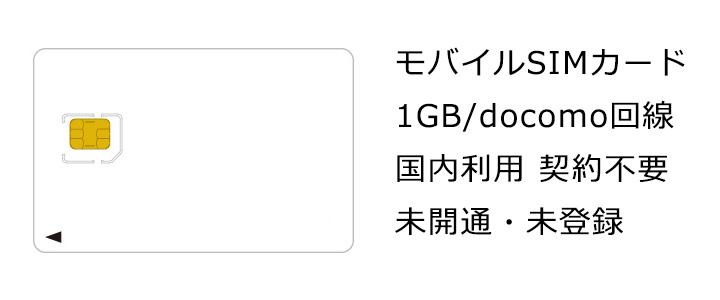 docomo,SIMカード,販売,1GB,返却不要,契約不要
